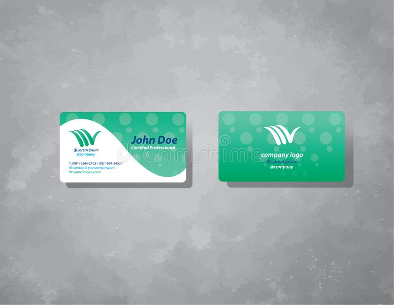 Business card design minimal, organic and clean stock illustration