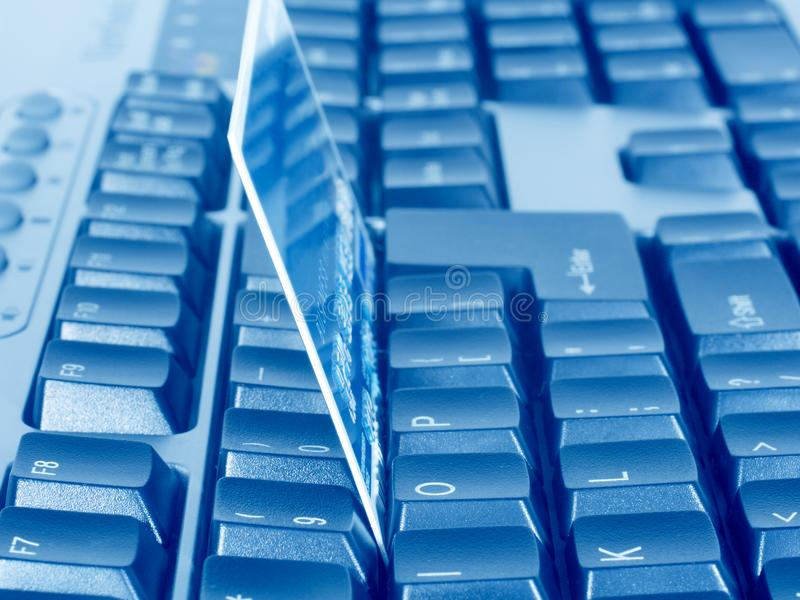 Business Credit Card On Keyboard Free Stock Images