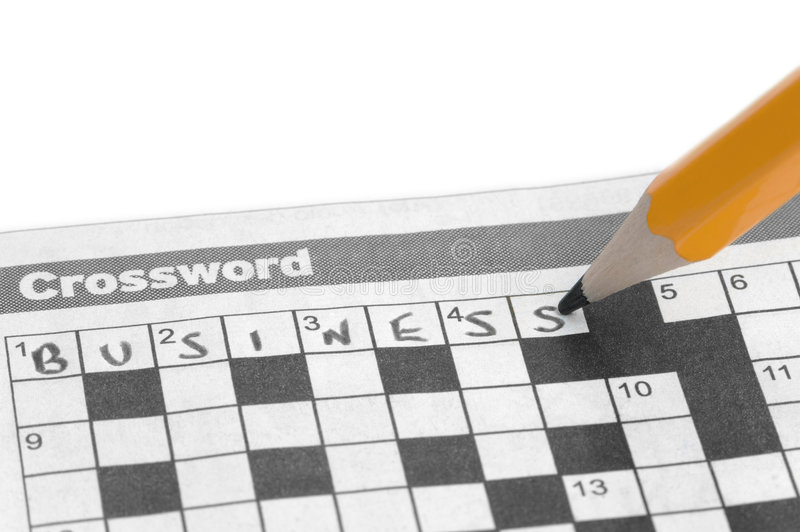 Business Crossword royalty free stock images