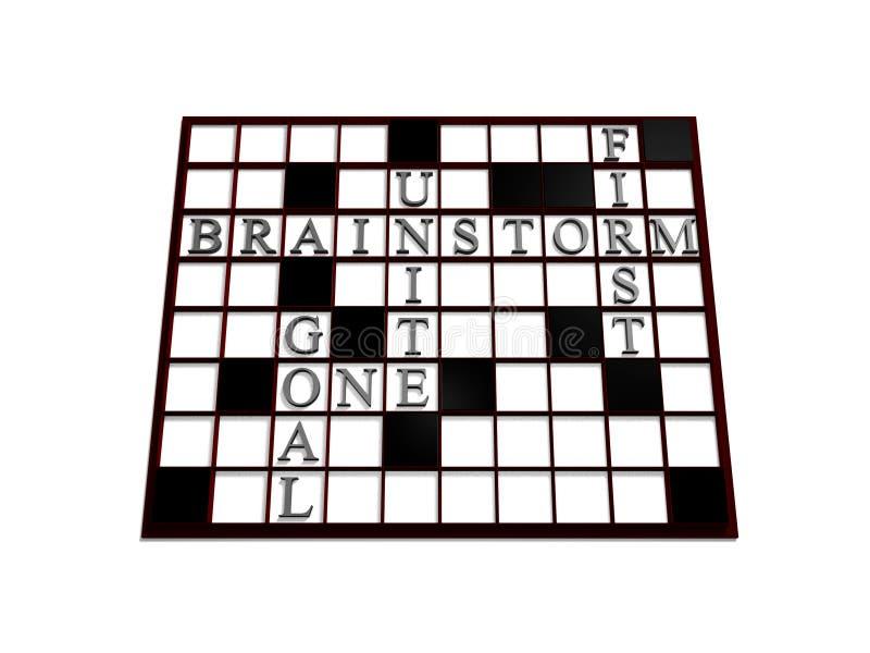 Business Crossword Puzzle Stock Image