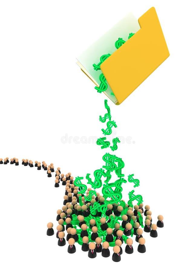 Business Crowd, Money Folder stock illustration