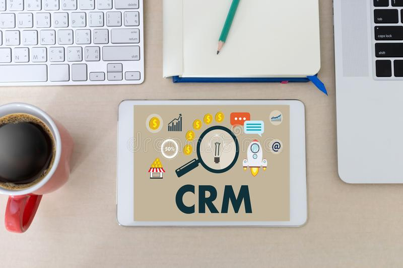 Business Customer CRM Management Analysis Service Concept manage royalty free stock photo