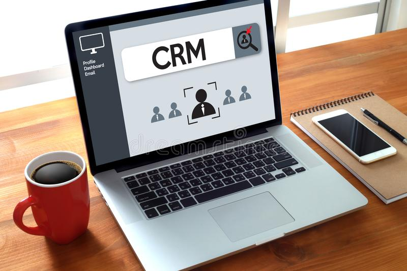 Business Customer CRM Management Analysis Service Concept manage royalty free stock photography