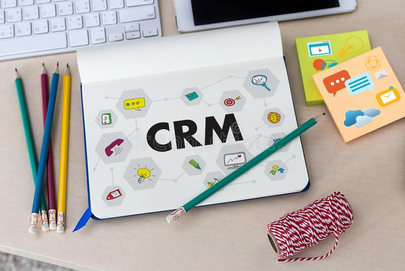 Business Customer CRM Management Analysis Service Concept manage stock image