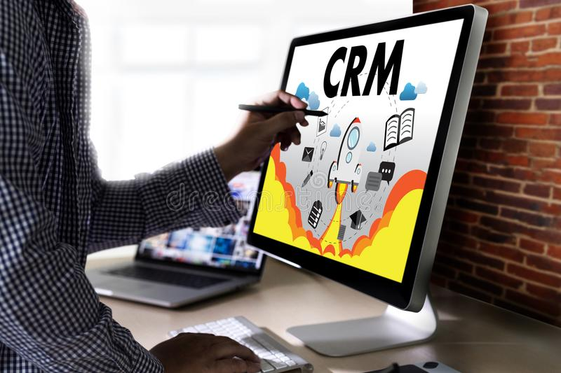 Business Customer CRM Management Analysis Service Concept manage royalty free stock images