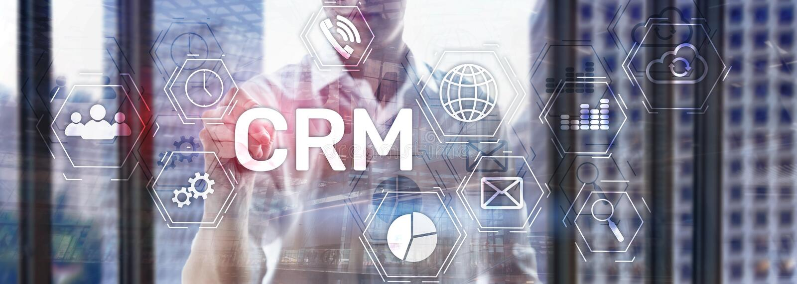 Business Customer CRM Management Analysis Service Concept. Relationship Management. stock images