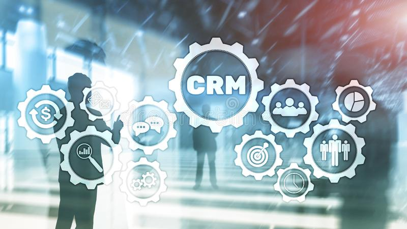 Business Customer CRM Management Analysis Service Concept. Relationship Management. stock image
