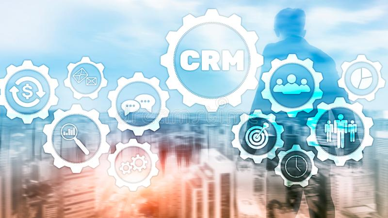 Business Customer CRM Management Analysis Service Concept. Relationship Management. royalty free stock photos