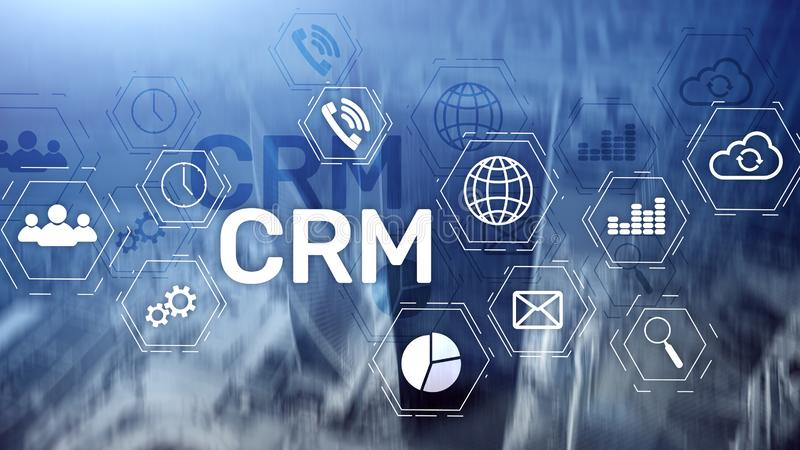 Business Customer CRM Management Analysis Service Concept. Relationship Management royalty free stock photos