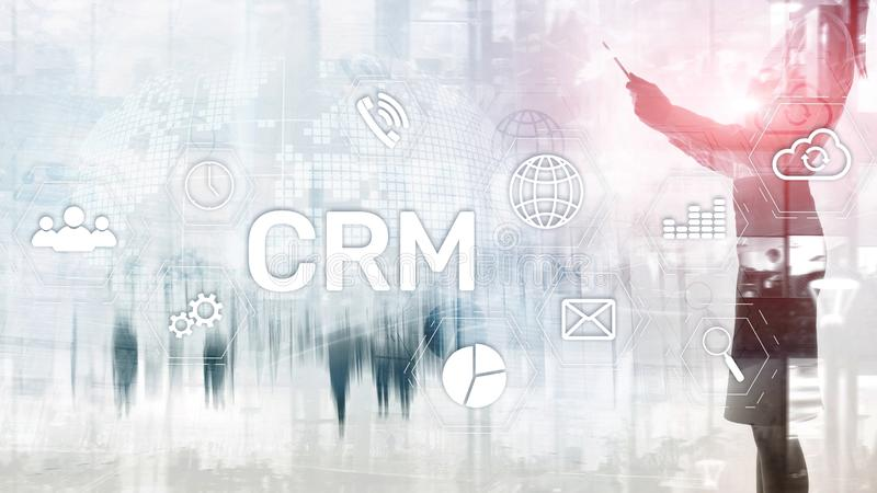 Business Customer CRM Management Analysis Service Concept. Relationship Management. stock photography