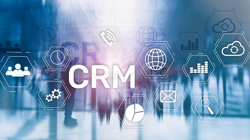 Business Customer CRM Management Analysis Service Concept. Relationship Management.  royalty free stock photo