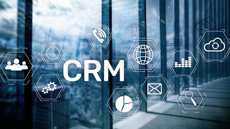 Business Customer CRM Management Analysis Service Concept. Relationship Management. royalty free stock images