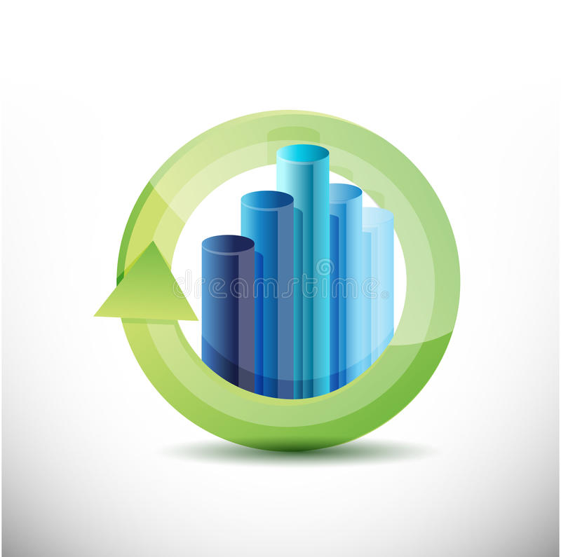 Business cycle illustration design. Over a white background stock illustration