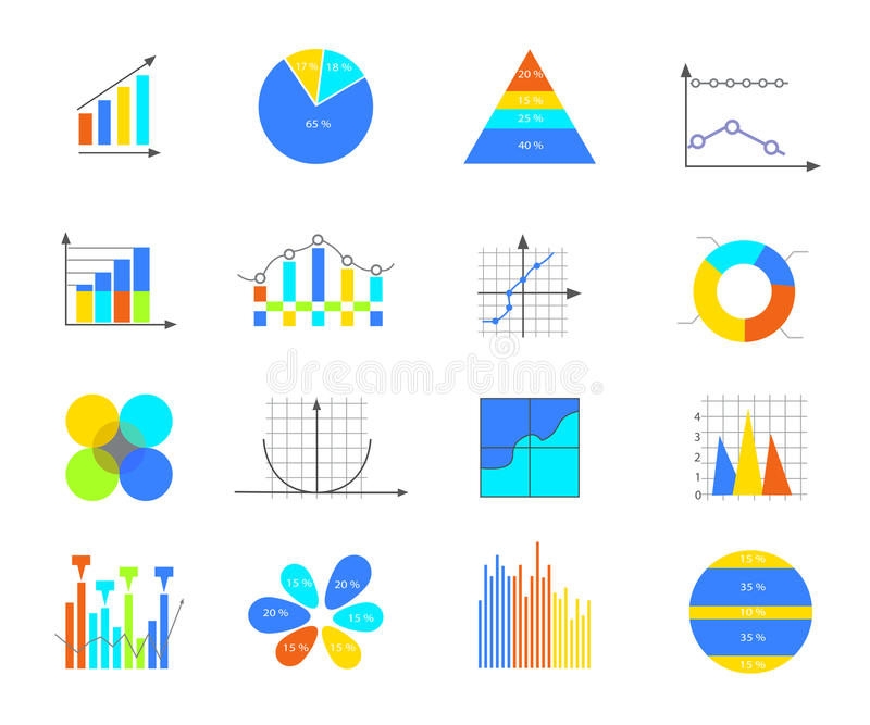 Business data elements stock illustration