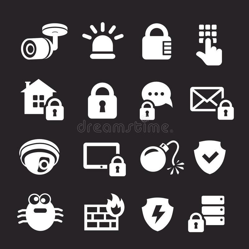 Business data protection technology, personal protection and security system.  royalty free illustration