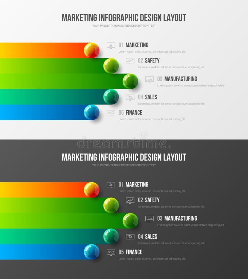 Business data visualization creative design vector illustration template. Amazing corporate statistics information screen infograp royalty free illustration