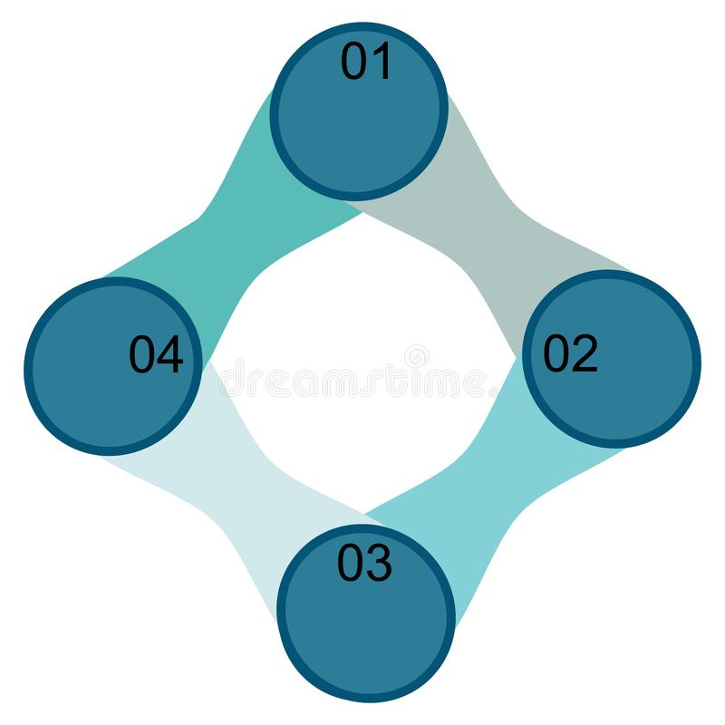 Infographics of circles and lines icons. Business data visualization, infographics. Scheme of the process of elements with the help of graphics, diagrams of stock illustration