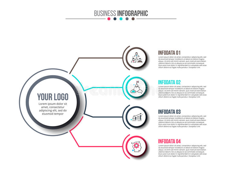 Business data visualization. stock illustration