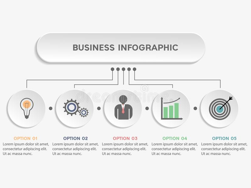 Business infographic template. stock illustration