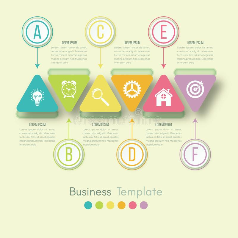 Business data visualization. Process chart. Abstract elements of graph, diagram with steps, options, parts or processes. Vector stock illustration