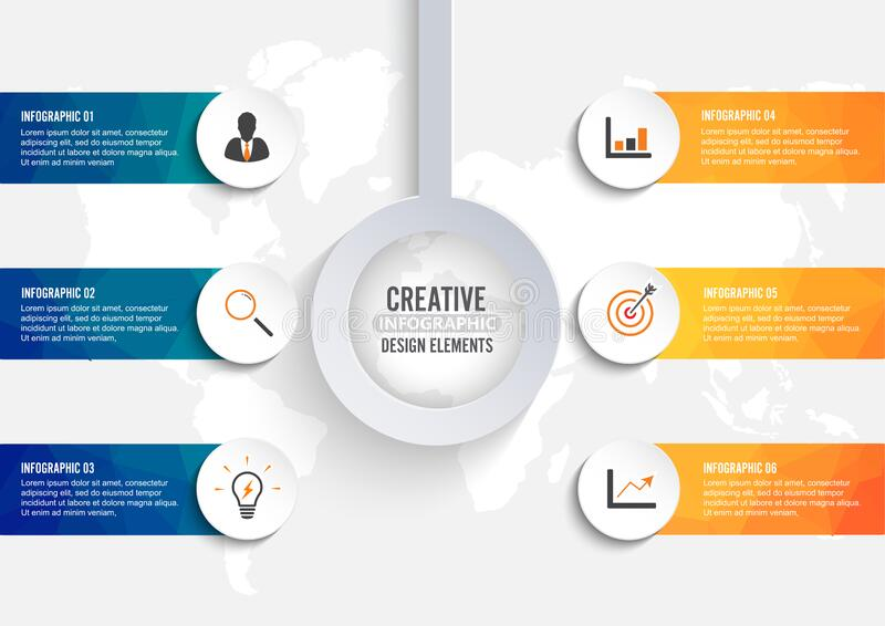 Business data visualization. Process chart. Abstract elements of graph, diagram with steps, options, parts or processes. Vector stock photography