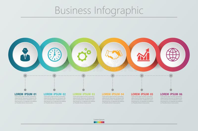 Business data visualization. timeline infographic icons designed for abstract background template royalty free illustration