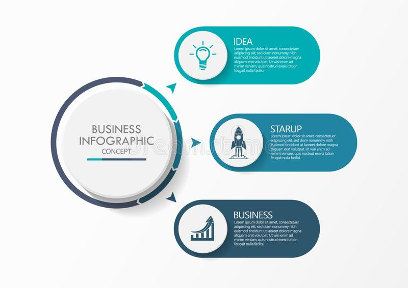 Presentation business infographic template vector illustration