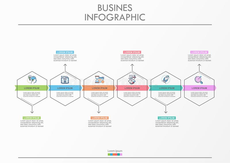 Presentation business infographic template stock photos