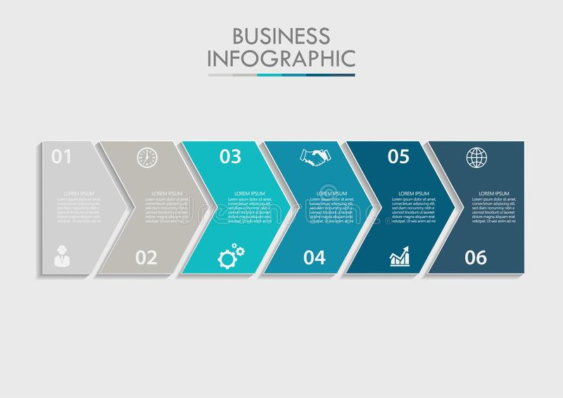 Presentation business infographic template vector illustration