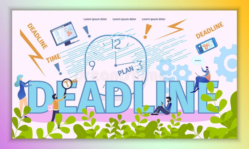 Business Deadline Time Vector Typography Banner royalty free illustration