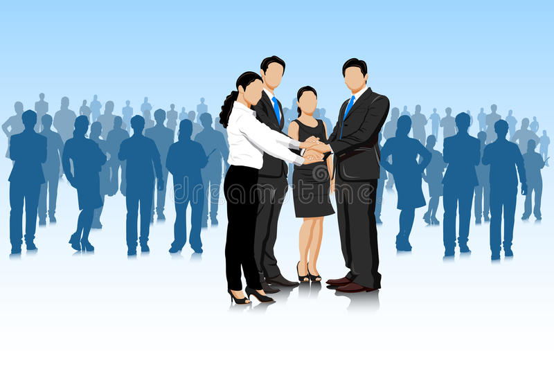 Business deal with businesspeople stock illustration