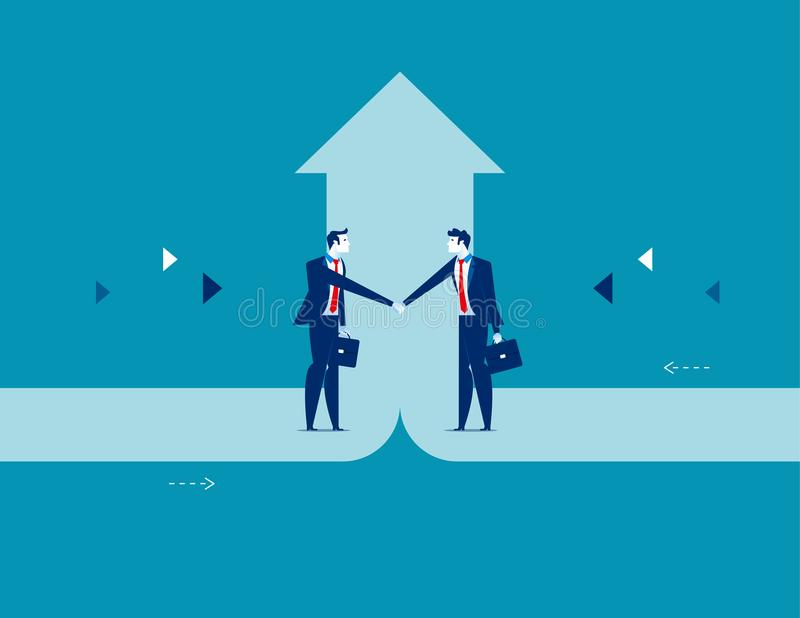 Business deal. Concept business success vector illustration. Flat character design style stock illustration