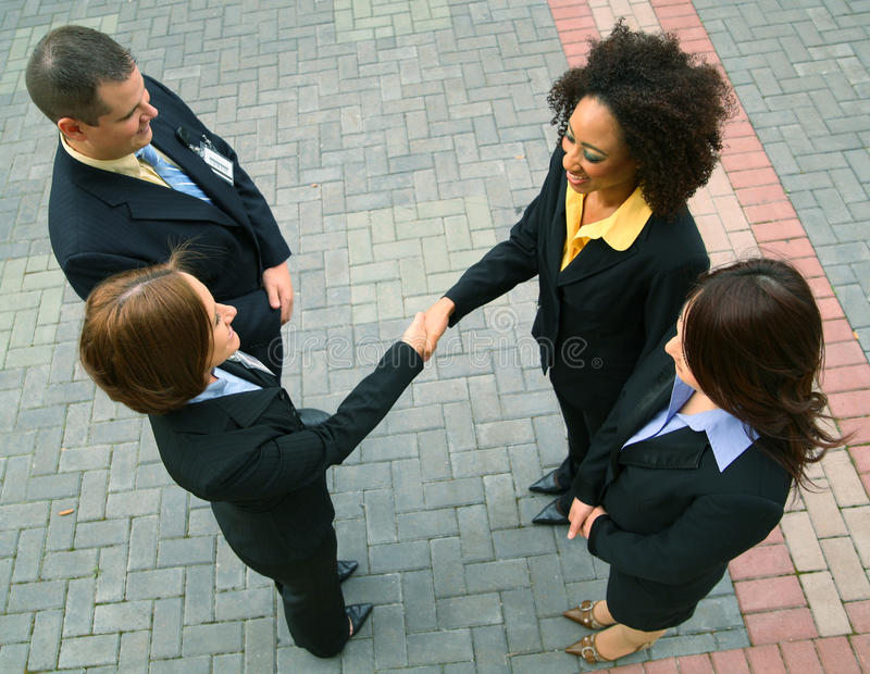 Business Deal With Diversity Group royalty free stock image