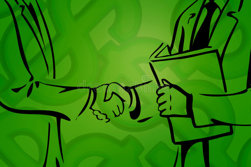 Business deal III. Computer generated illustration royalty free illustration