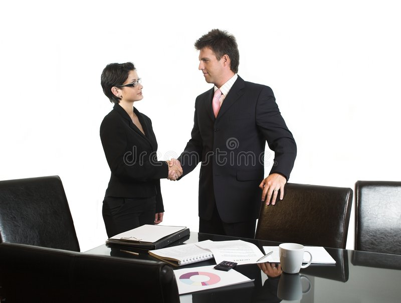 Business deal - isolated stock image