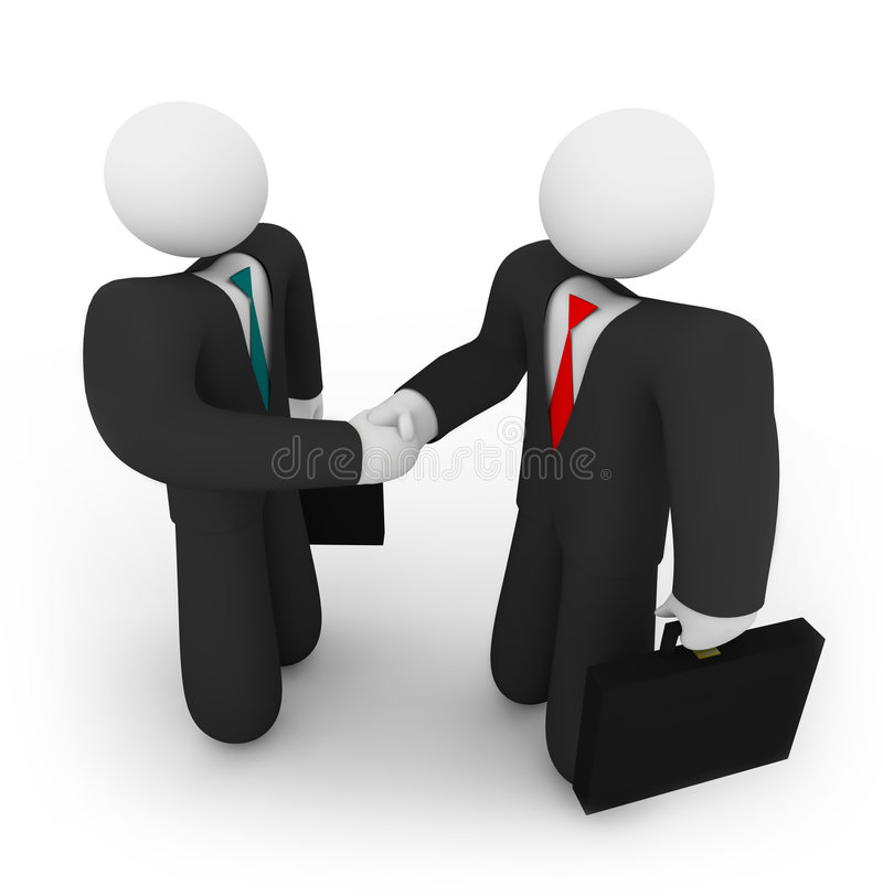Download Business Deal - Two Holding Suitcases Stock Illustration - Image: 8926382