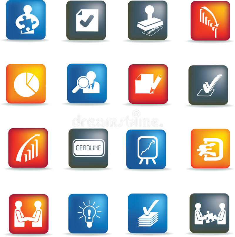 Download Business deals icon set stock vector. Image of grey, finance - 12685268