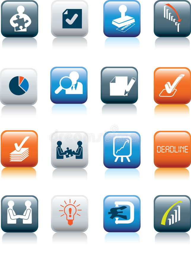 Download Business Deals Icon Set Royalty Free Stock Photos - Image: 13058768