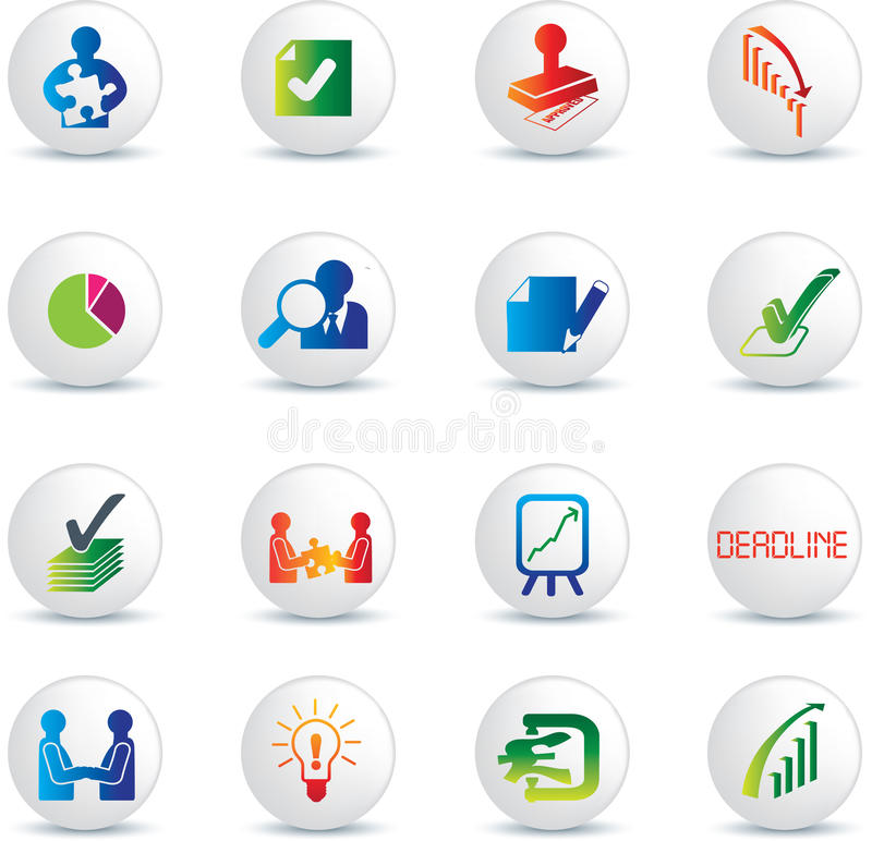 Download Business Deals Icon Set Royalty Free Stock Image - Image: 13058826