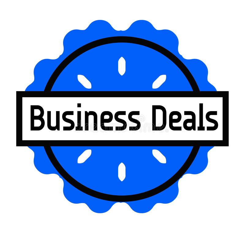 BUSINESS DEALS stamp on white. Background. Signs and symbols series vector illustration