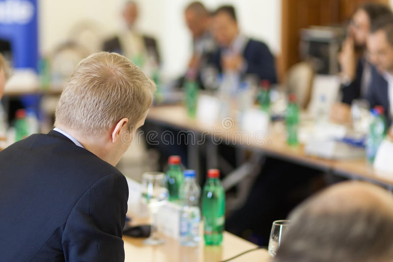 Business debate stock photos