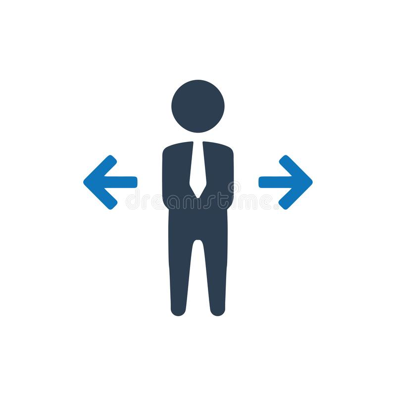 Business Decision Making Icon stock illustration