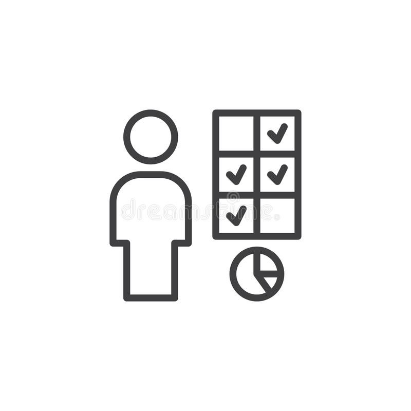 Business Decision Making outline icon stock illustration