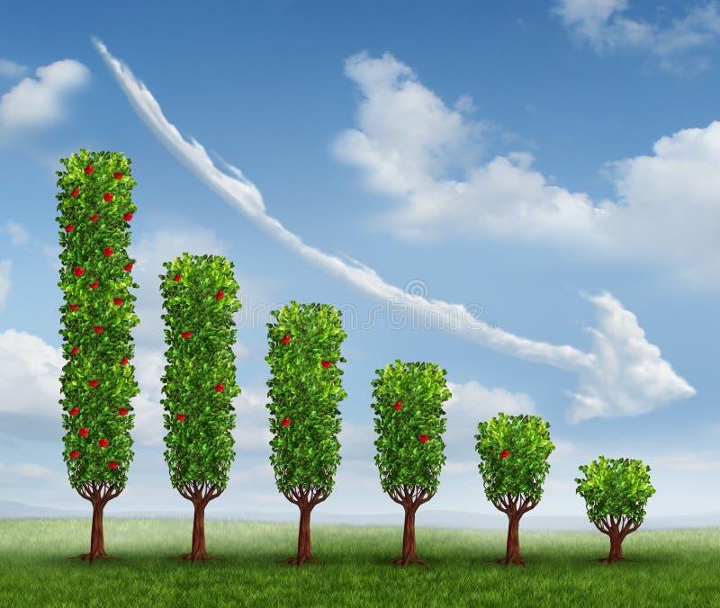 Download Business Decrease stock illustration. Illustration of declining - 30560557