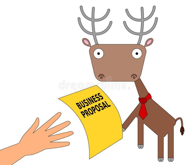 Business deer royalty free illustration