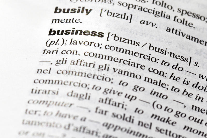 Business. Definition of the term, english royalty free stock photos