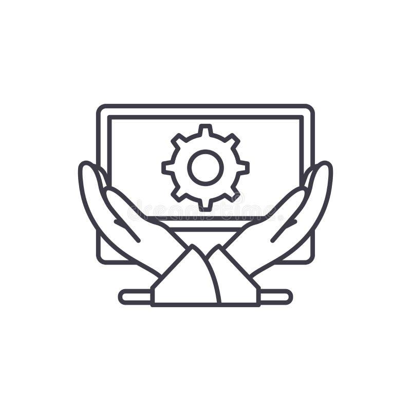 Business development line icon concept. Business development vector linear illustration, symbol, sign royalty free illustration