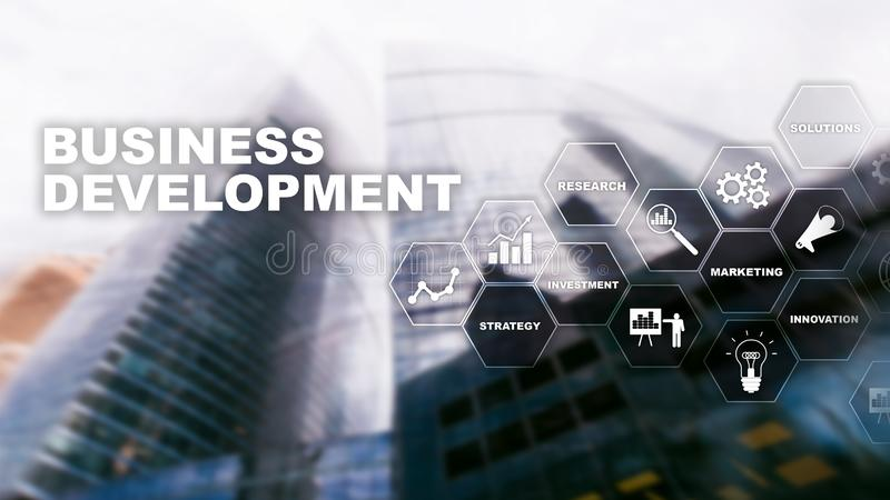 Business Development Startup Growth Statistics. Financial Plan Strategy Development Process Graphic Concept.  royalty free stock photo
