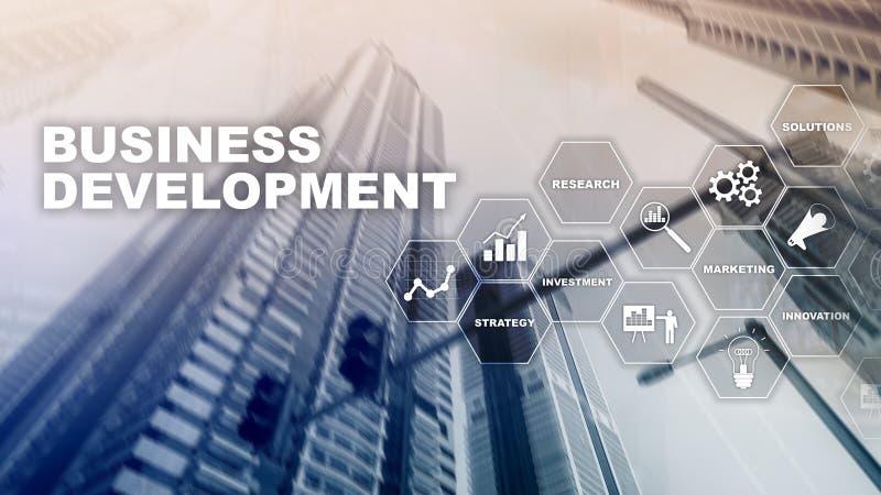 Business Development Startup Growth Statistics. Financial Plan Strategy Development Process Graphic Concept.  stock image