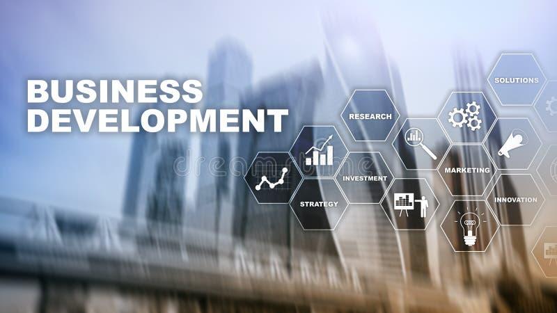 Business Development Startup Growth Statistics. Financial Plan Strategy Development Process Graphic Concept. Business Development Startup Growth Statistics stock images